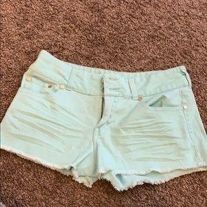 Charlotte Russe light blue shorts